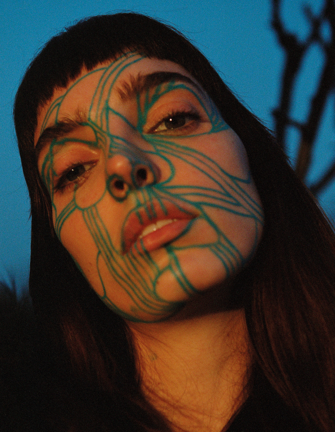 Teeth Magazine Online Editorials Niklas Bergstrand Film Photography Face Paint